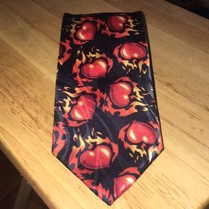 Other - Flaming hearts Necktie
